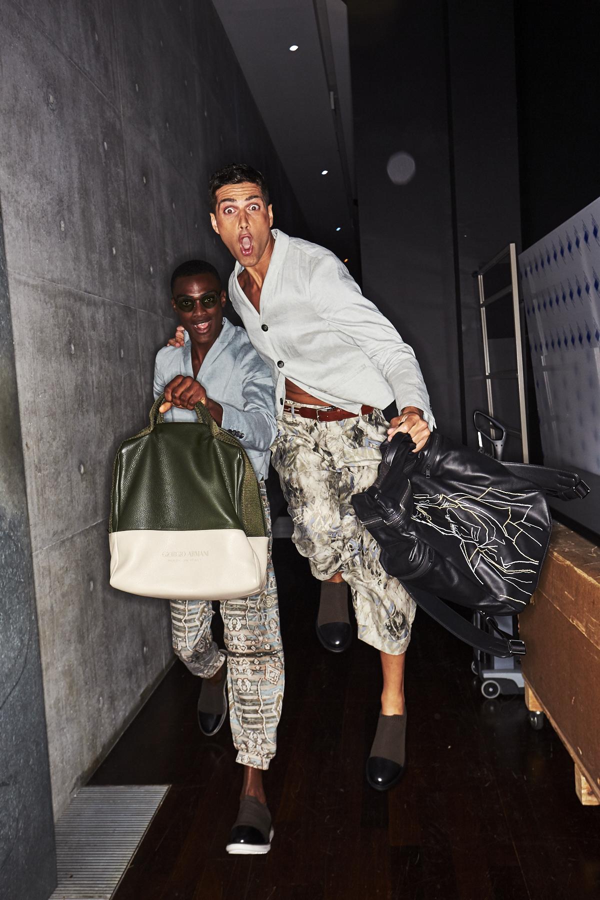Giorgio Armani SS19 Men Fashion Show Milan Backstage