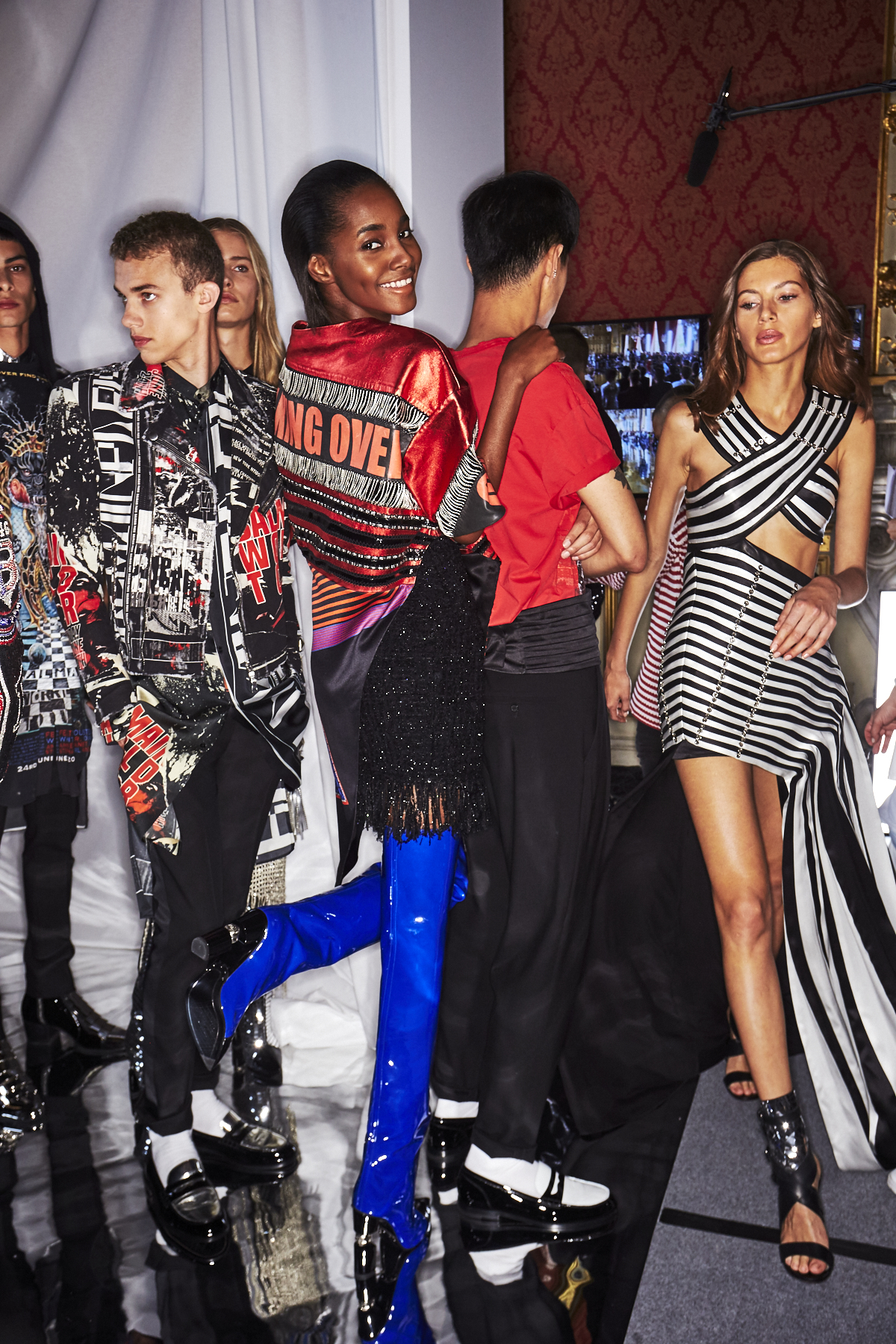 Balmain SS19 Men/Woman Fashion Show Paris Backstage