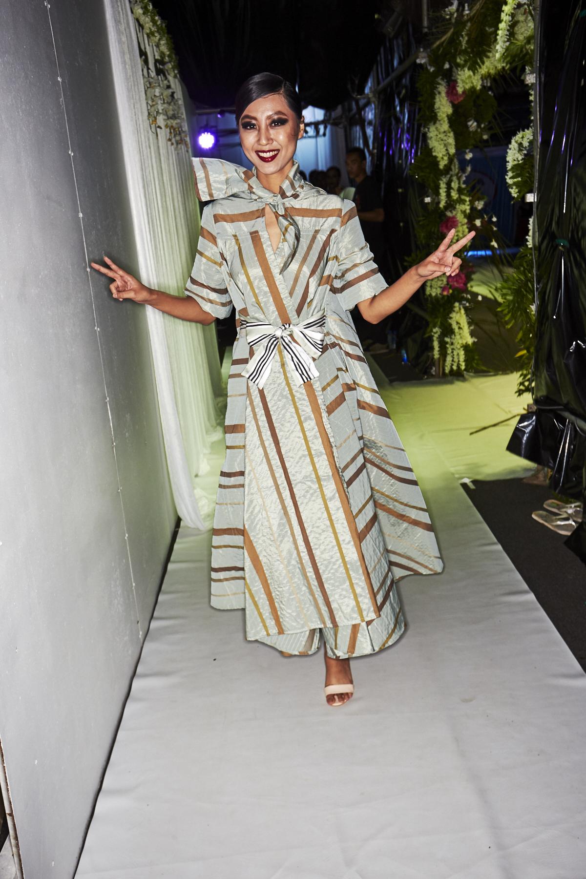 Elaradi by designer Laisiasa Davetawalu Resort Luxe Fashion Show Suva, Fiji Backstage