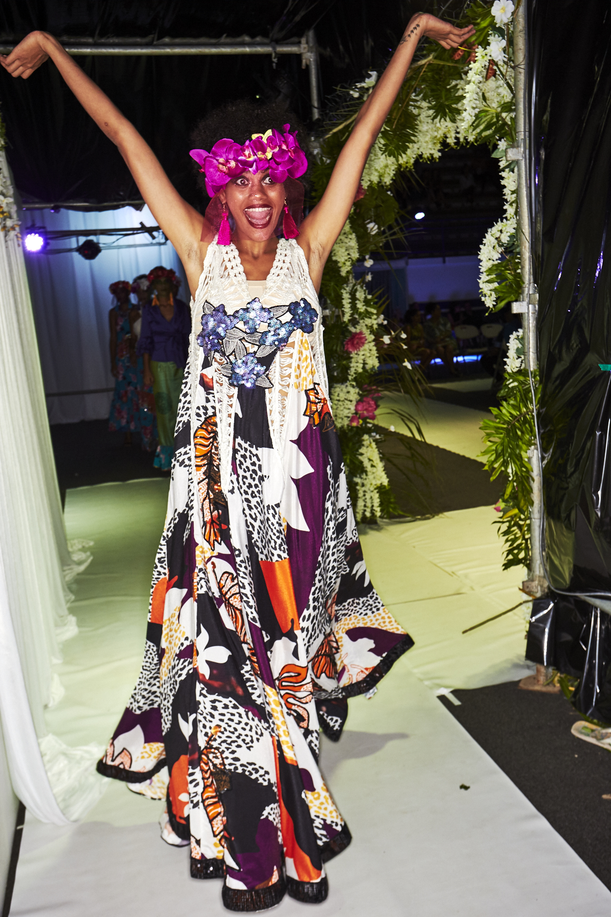 The Haus of Koila by Adi Koila Ganilau Lee Resort Luxe 2018 Fashion Show Suva, Fiji Backstage
