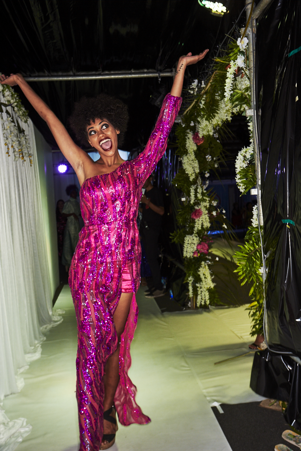 Jadeine Whiteside 2018 Resort Luxe Fashion Show Backstage Suva, Fiji