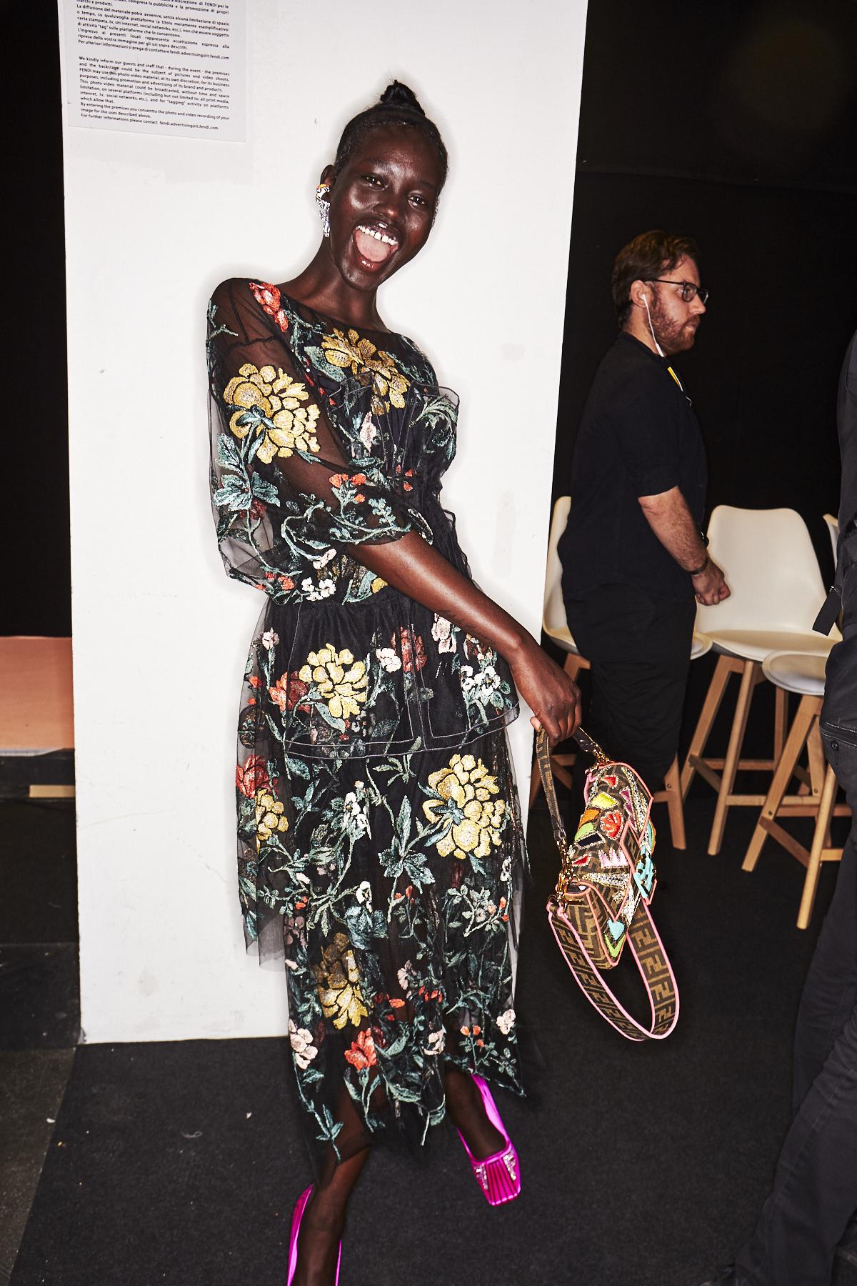 Fendi SS19 Fashion Show Milan Backstage