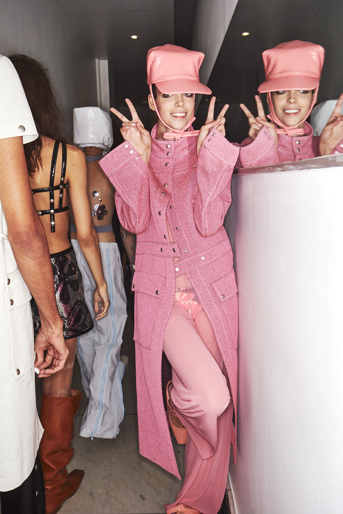 Courreges SS19 Fashion Show Paris Backstage