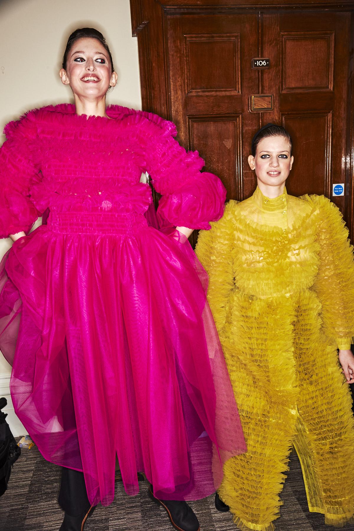Molly Goddard AW1920 Fashion Show London Backstage