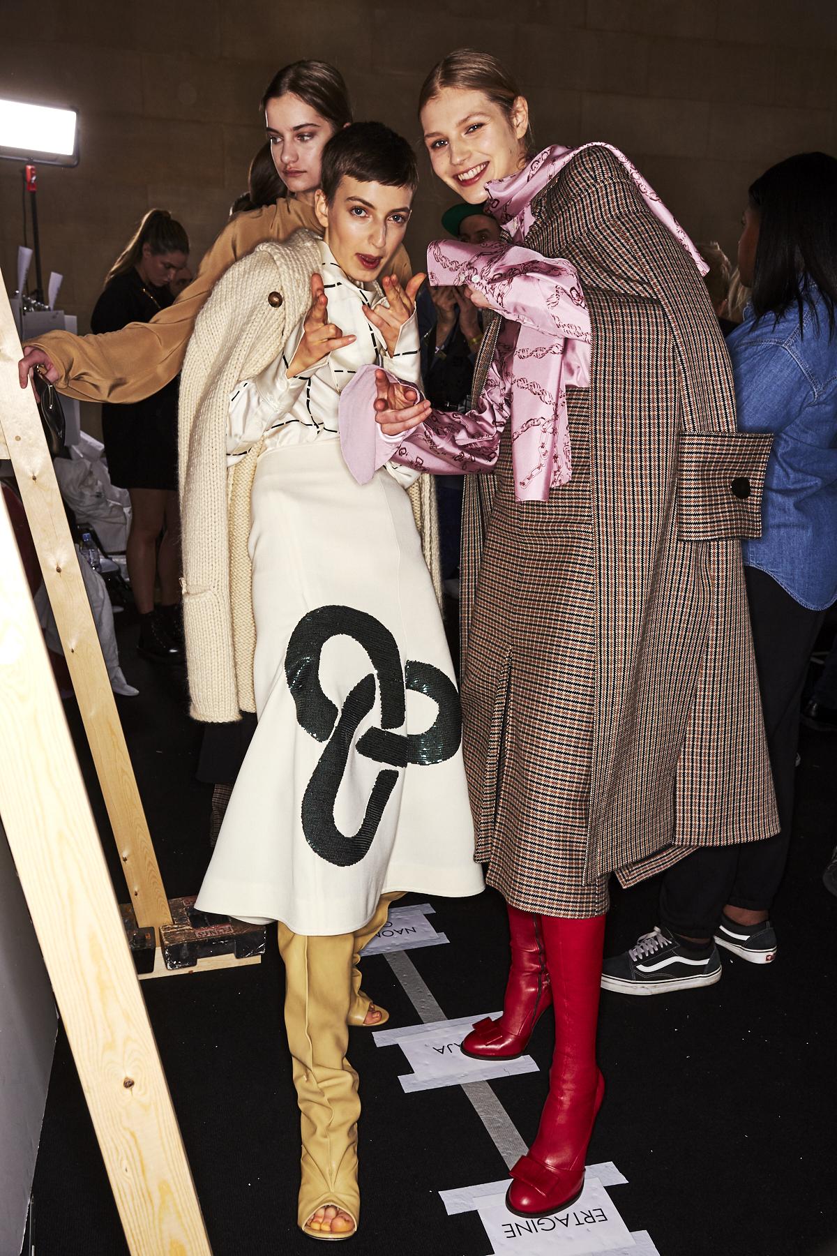 Victoria Beckham AW19 Fashion Show London Backstage