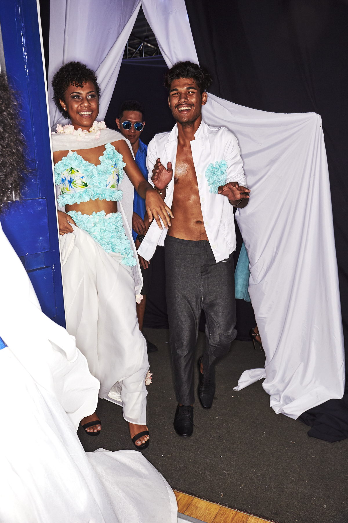 Highlight of the High School Students Fashion Show, Fiji Fashion Week, Suva Backstage