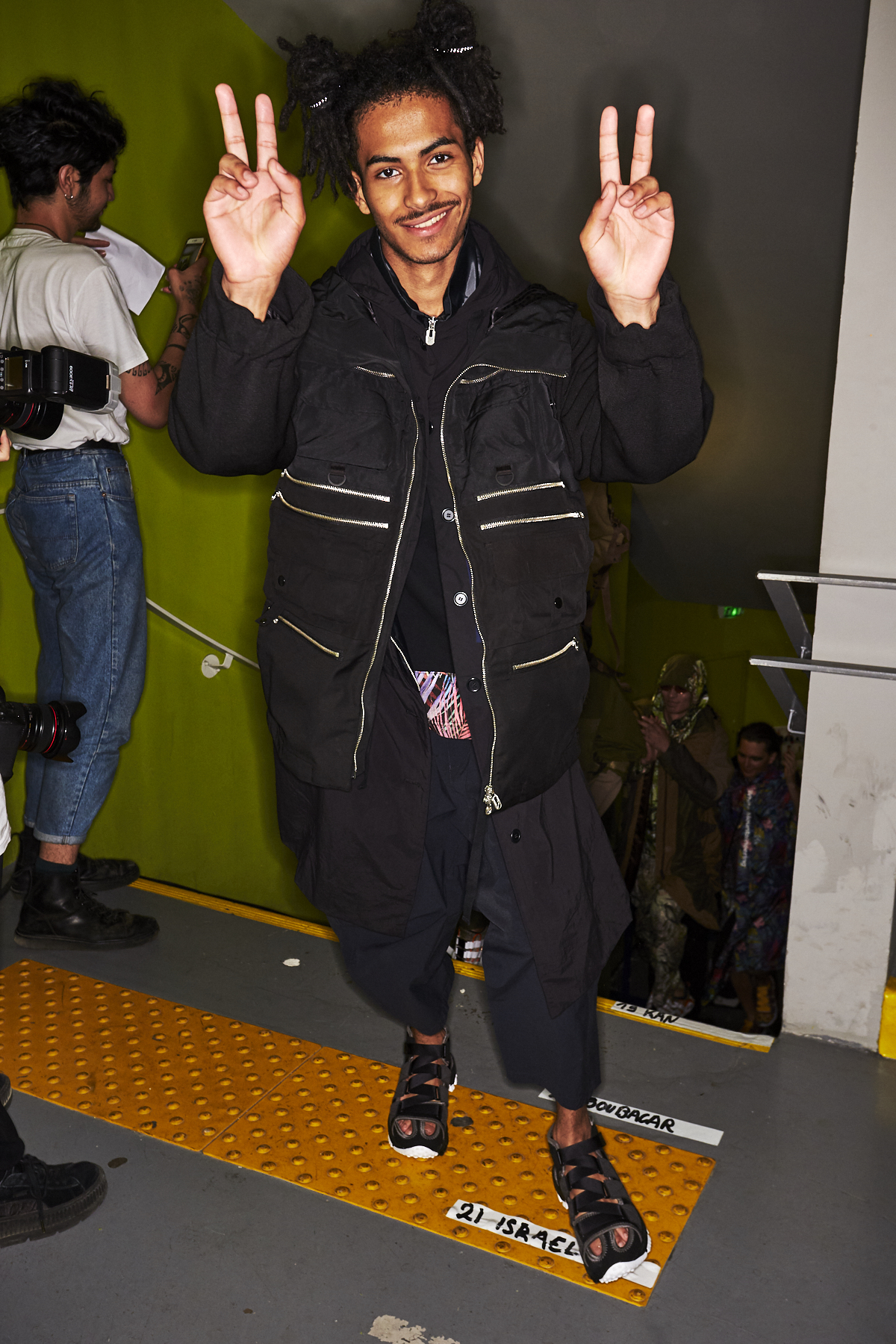 White Mountaineering SS20 Men Fashion Show Paris Backstage