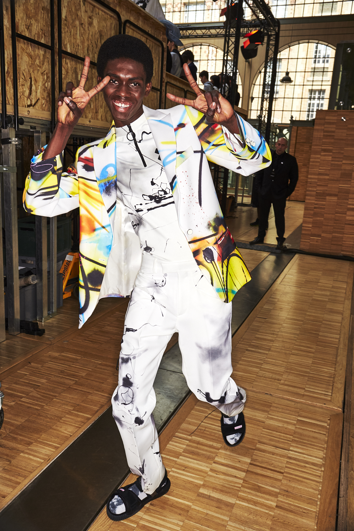 Off-White SS20 Men Fashion Show Paris Backstage