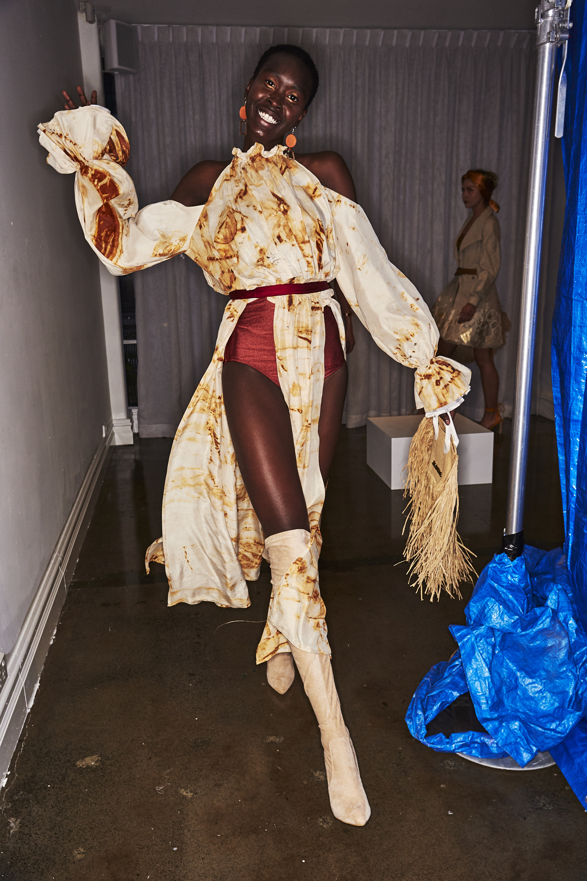 Morgan-Leigh Cook 2019 Fashion Design Studio Graduate Fashion Show Backstage