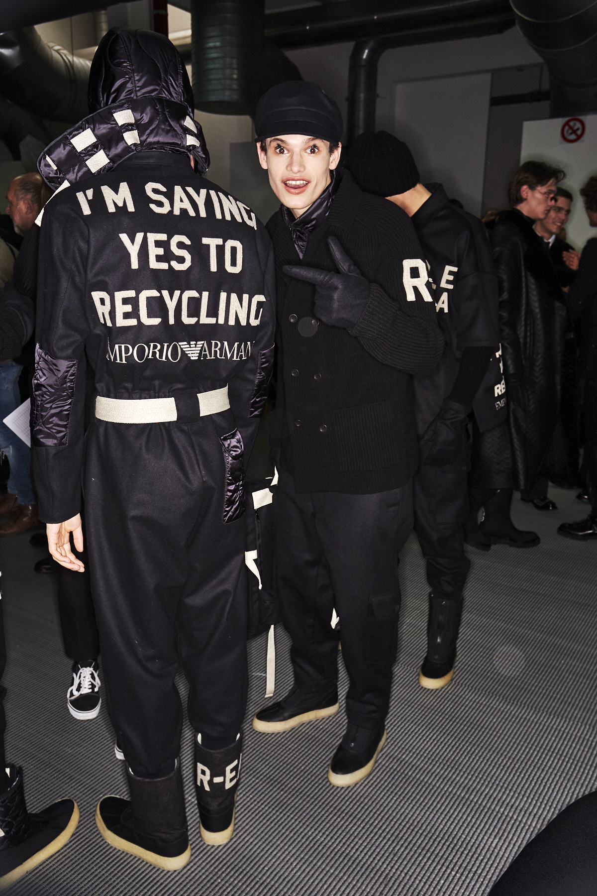 Emporio Armani AW2021 Men Fashion Show Milan Backstage