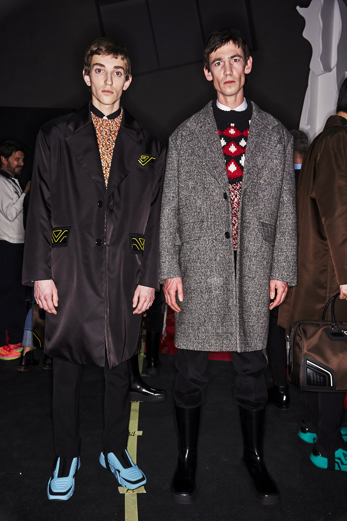 Prada AW2021 Men Fashion Show Milan Backstage