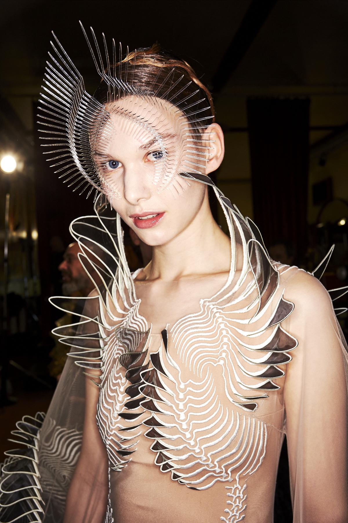 Iris Van Herpen SS20 Haute Couture Fashion Show Paris Backstage