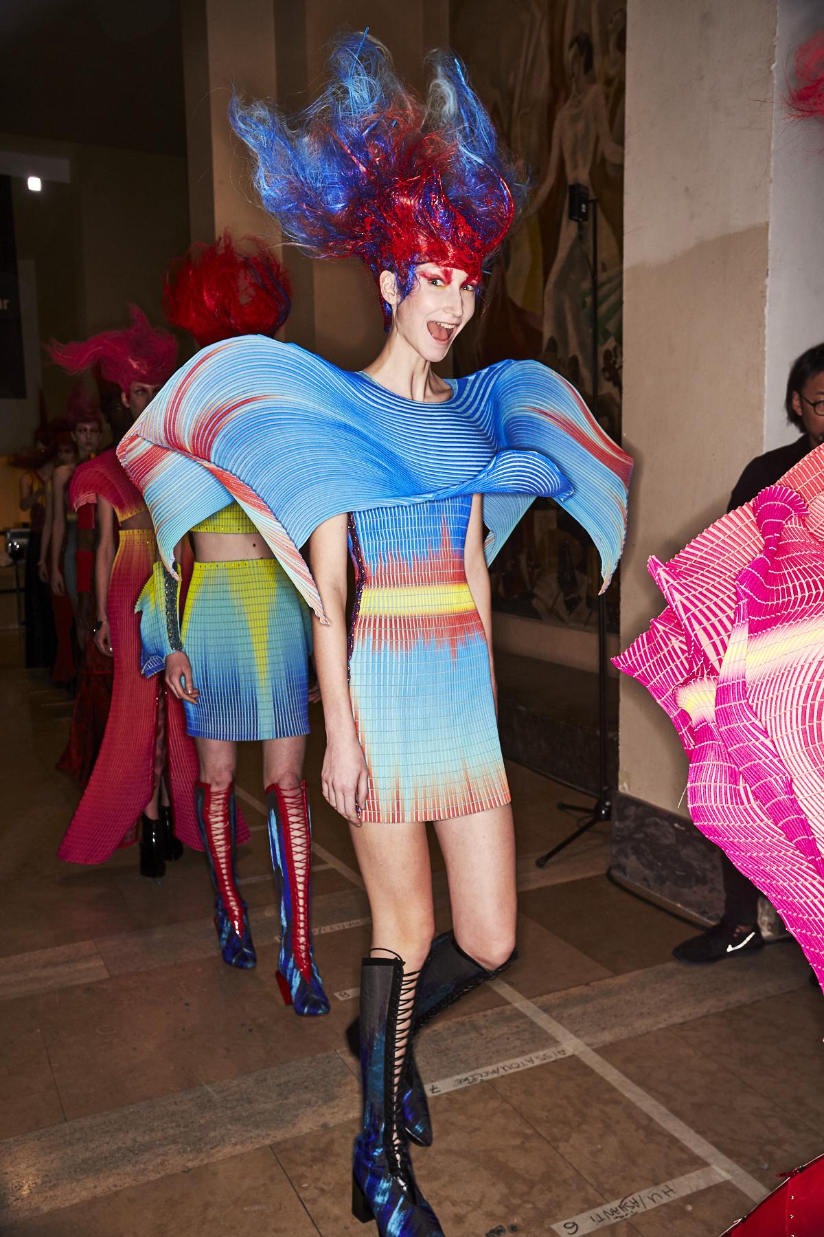 Yuima Nakazato SS20 Paris Haute Couture Fashion Show Backstage