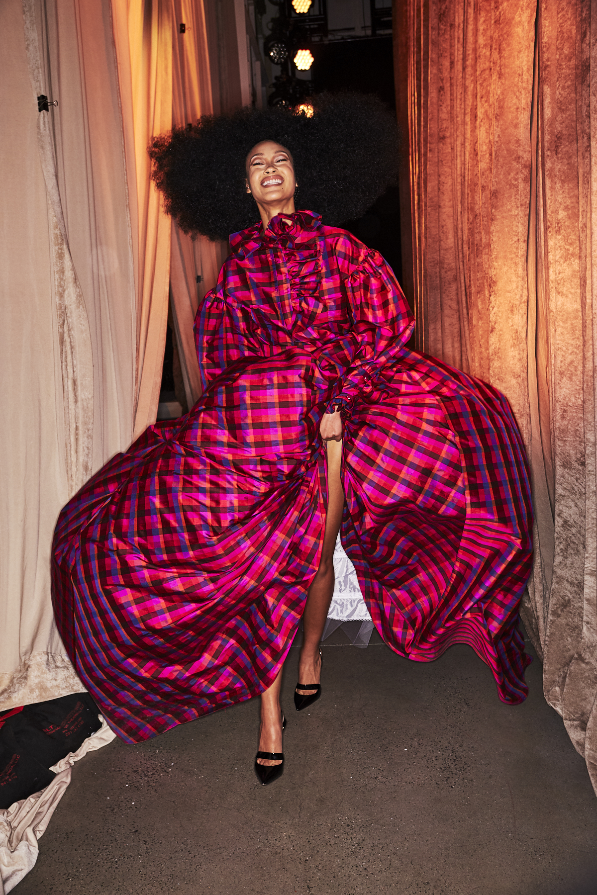 Christopher John Rogers AW2021 Fashion Show New York Backstage